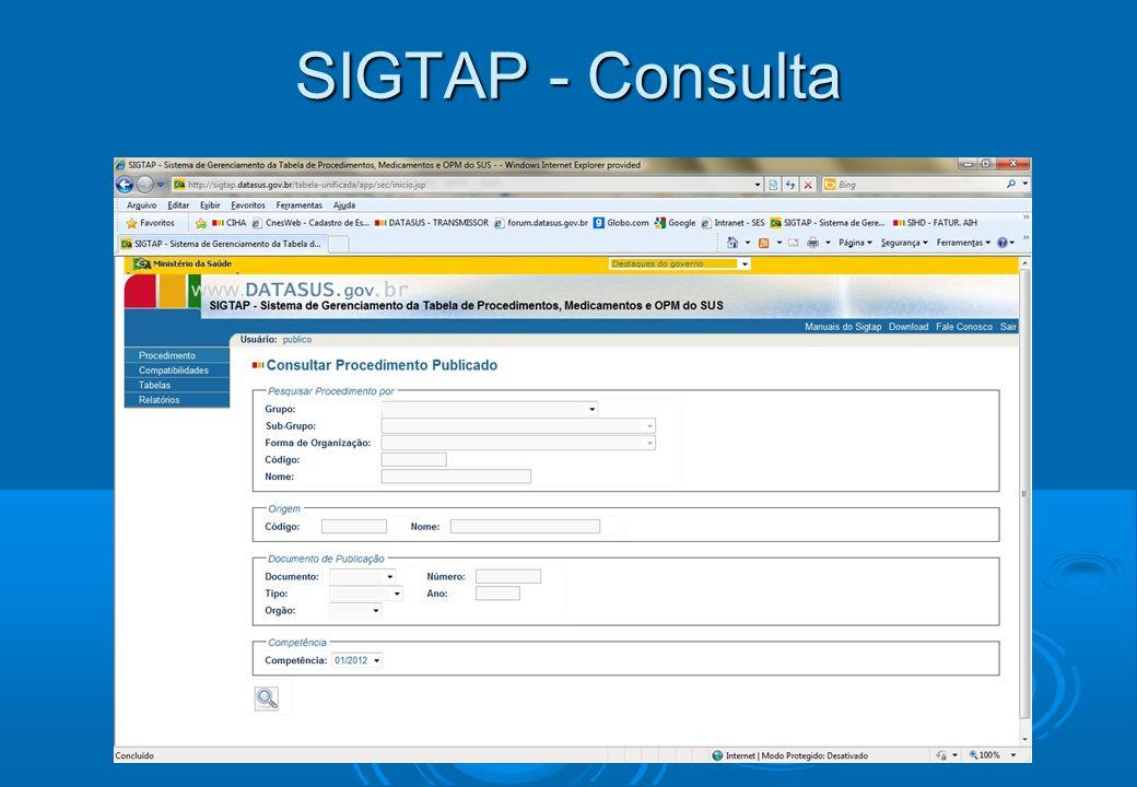SIGTAP - Consulta