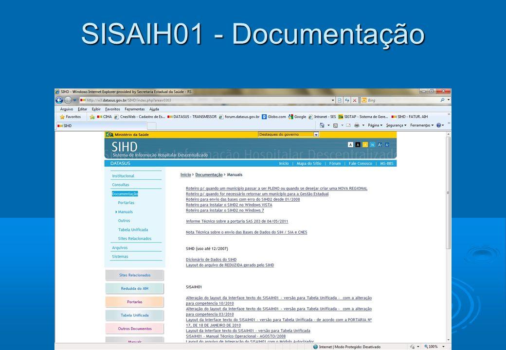 SISAIH01 - Documentação