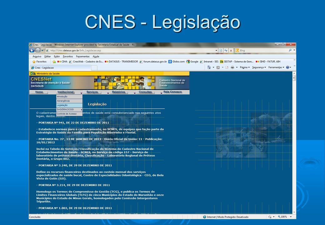 CNES - Legislação