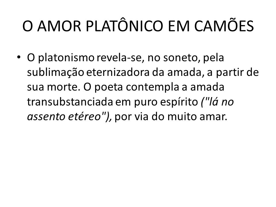O AMOR PLATÔNICO EM CAMÕES