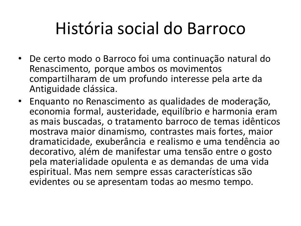 História social do Barroco