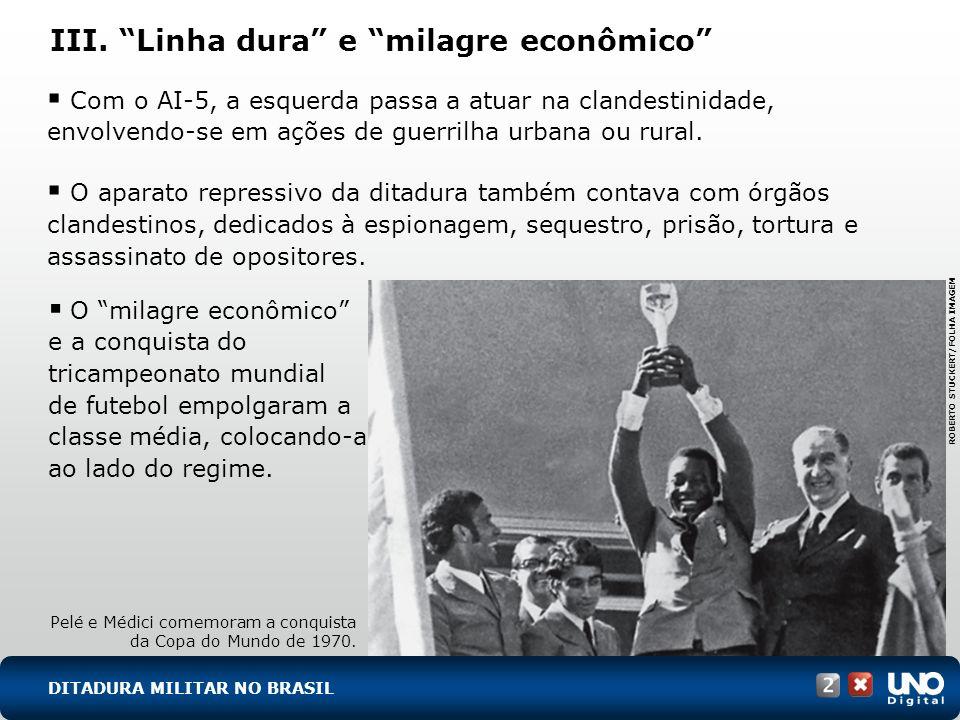 III. Linha dura e milagre econômico