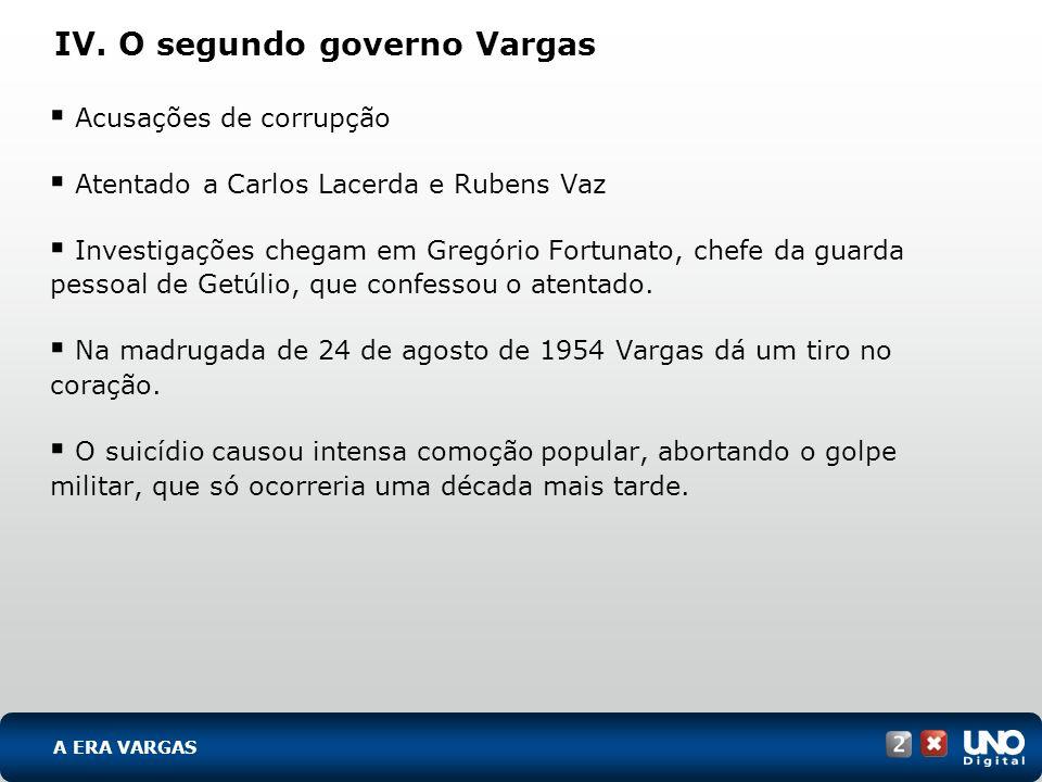 IV. O segundo governo Vargas