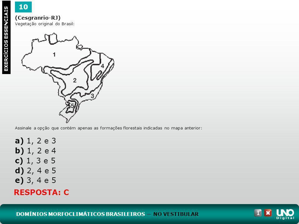 Geo-cad1-top-7 – 3 Prova10. (Cesgranrio-RJ) Vegetação original do Brasil: