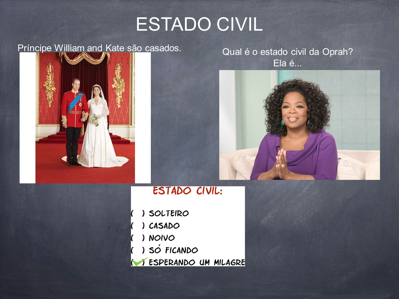 Qual é o estado civil da Oprah