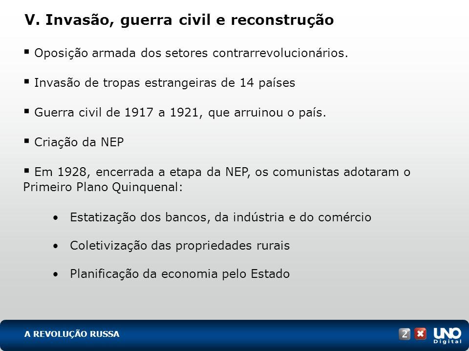 V. Invasão, guerra civil e reconstrução