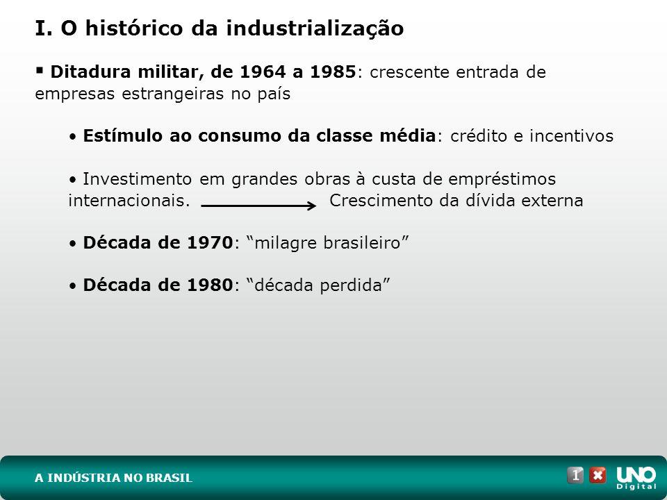 I. O histórico da industrialização