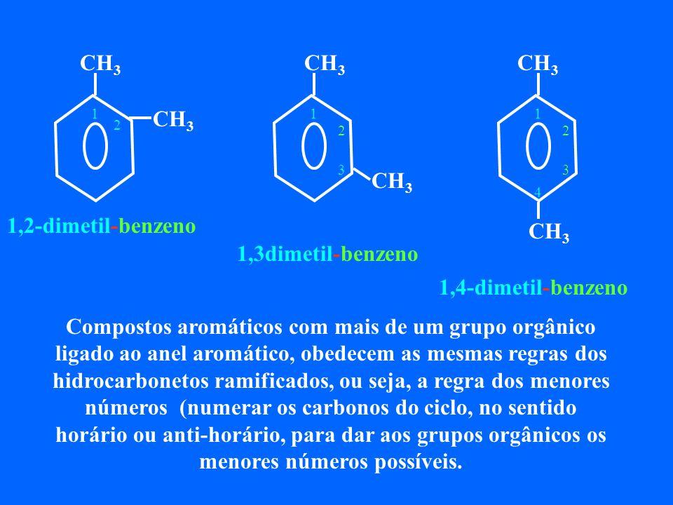 CH3 CH3. CH3. 1. 1. 1. 2. 2. 2. 3. 3. 4. 1,2-dimetil-benzeno. 1,3dimetil-benzeno. 1,4-dimetil-benzeno.