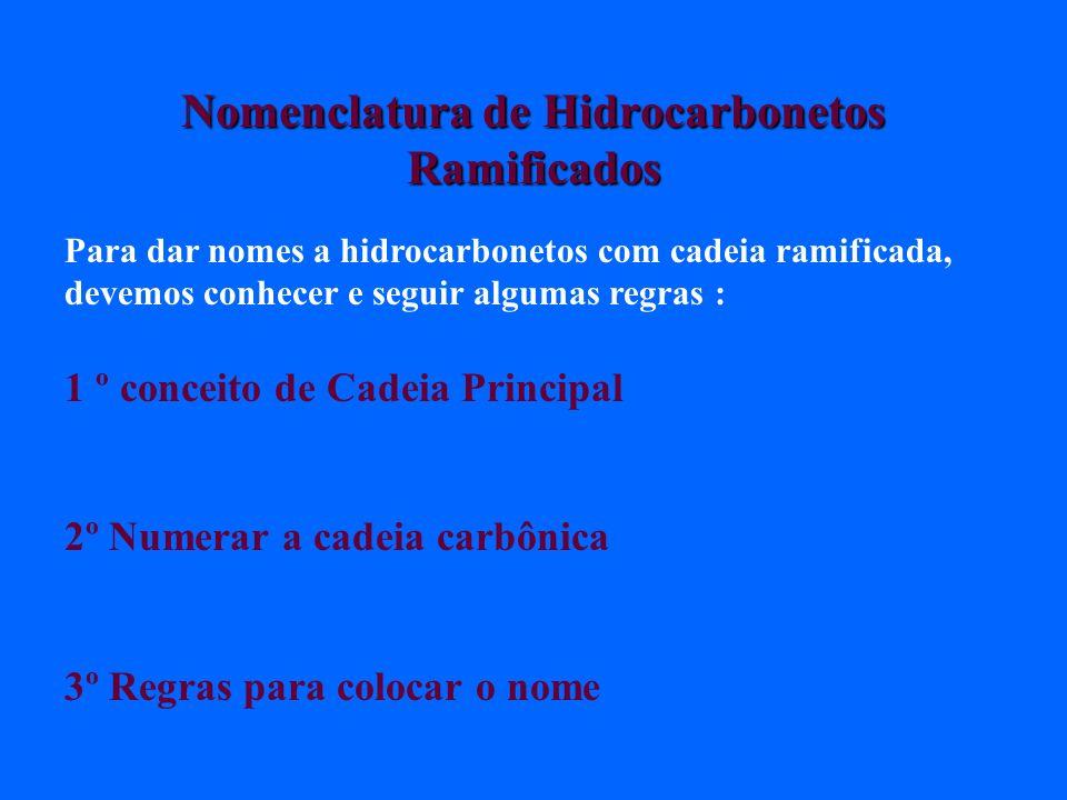 Nomenclatura de Hidrocarbonetos Ramificados