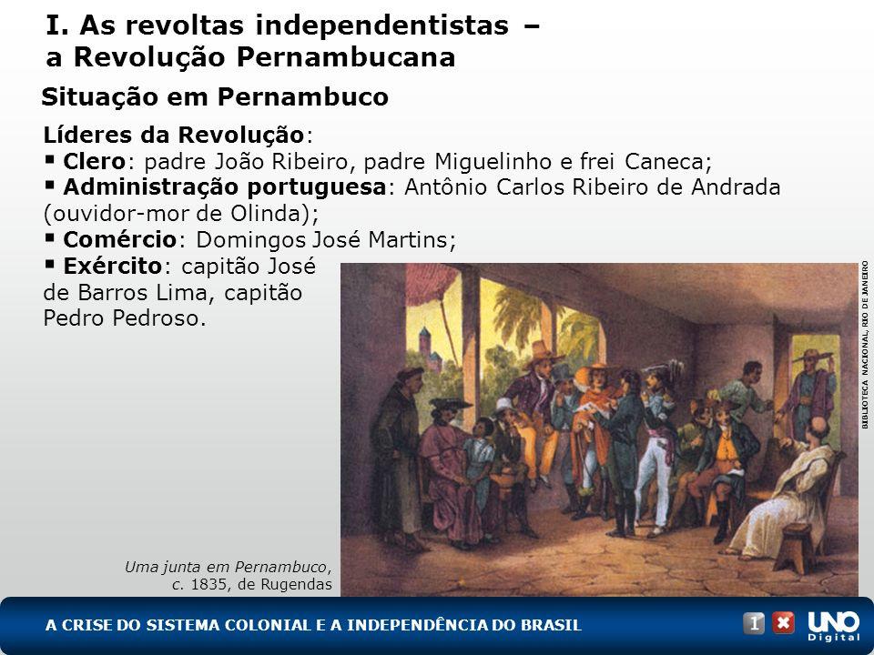 I. As revoltas independentistas – a Revolução Pernambucana