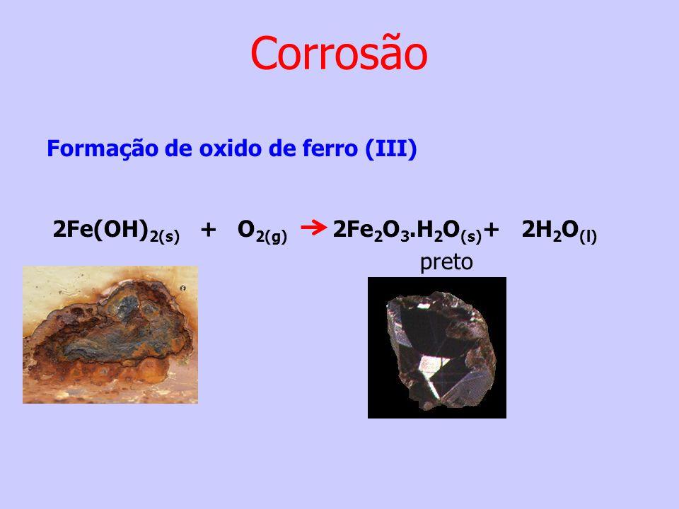 Corrosão Formação de oxido de ferro (III)