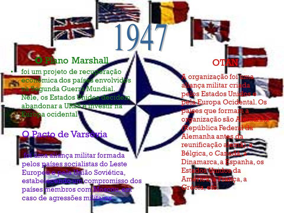 1947 O Plano Marshall OTAN O Pacto de Varsóvia