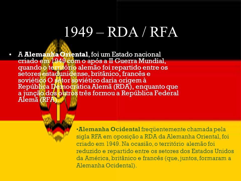 1949 – RDA / RFA