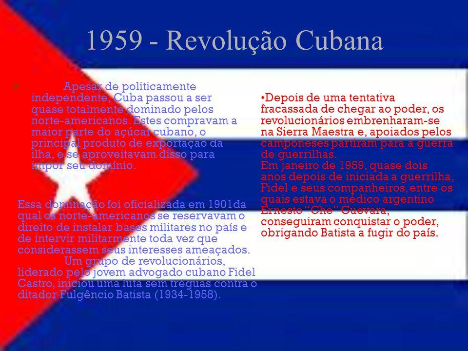 1959 - Revolução Cubana