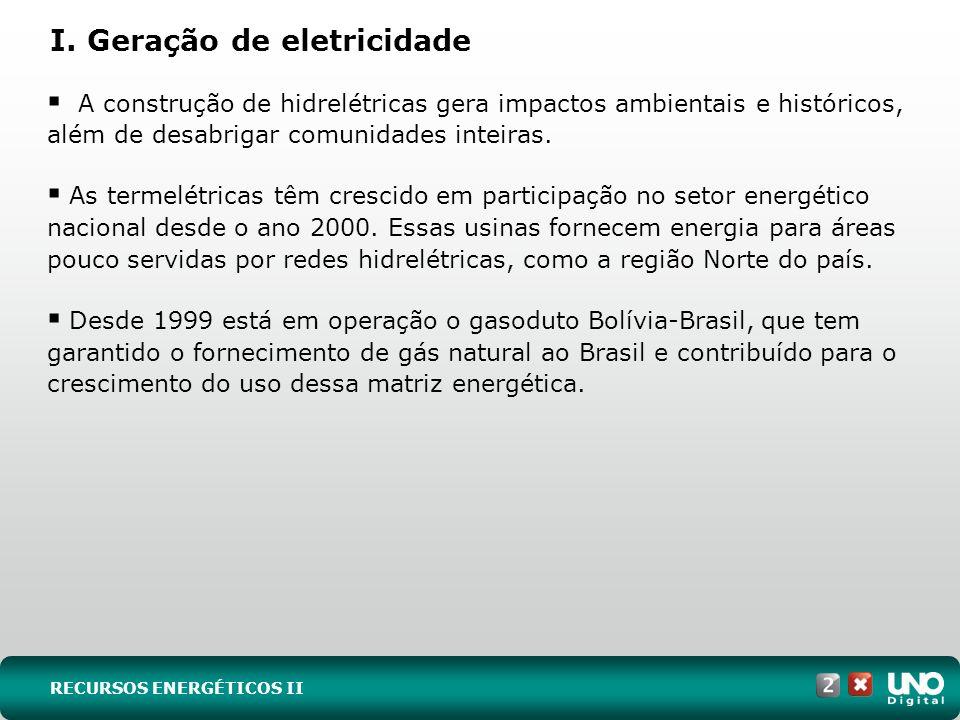 I. Geração de eletricidade
