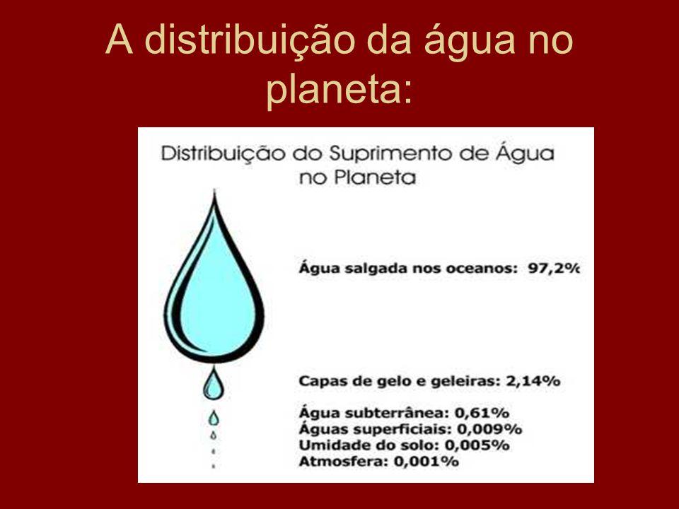 A distribuição da água no planeta: