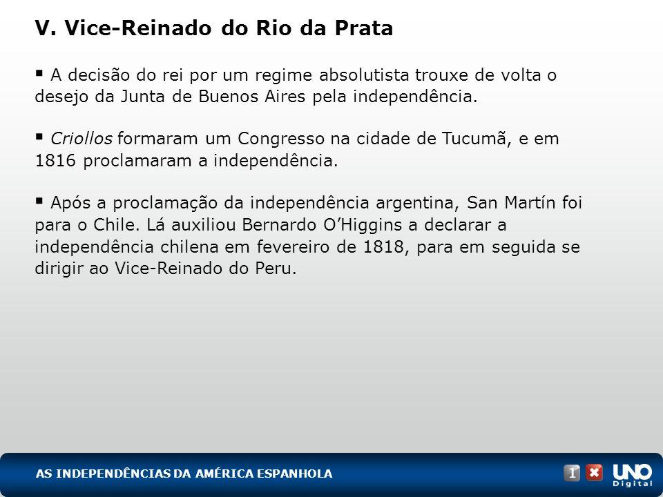 V. Vice-Reinado do Rio da Prata