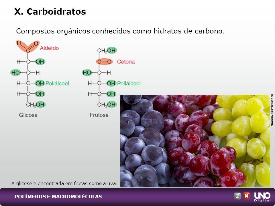Qui-cad-2-top-9 - 3 Prova X. Carboidratos. Compostos orgânicos conhecidos como hidratos de carbono.