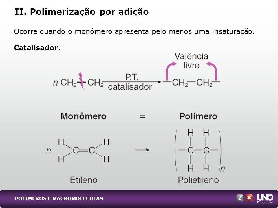 II. Polimerização por adição