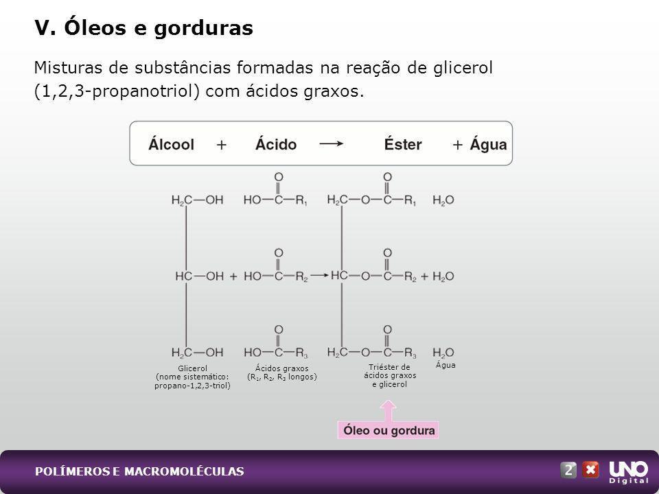 Qui-cad-2-top-9 - 3 Prova V. Óleos e gorduras. Misturas de substâncias formadas na reação de glicerol (1,2,3-propanotriol) com ácidos graxos.