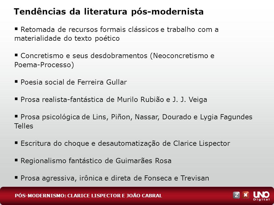 Tendências da literatura pós-modernista
