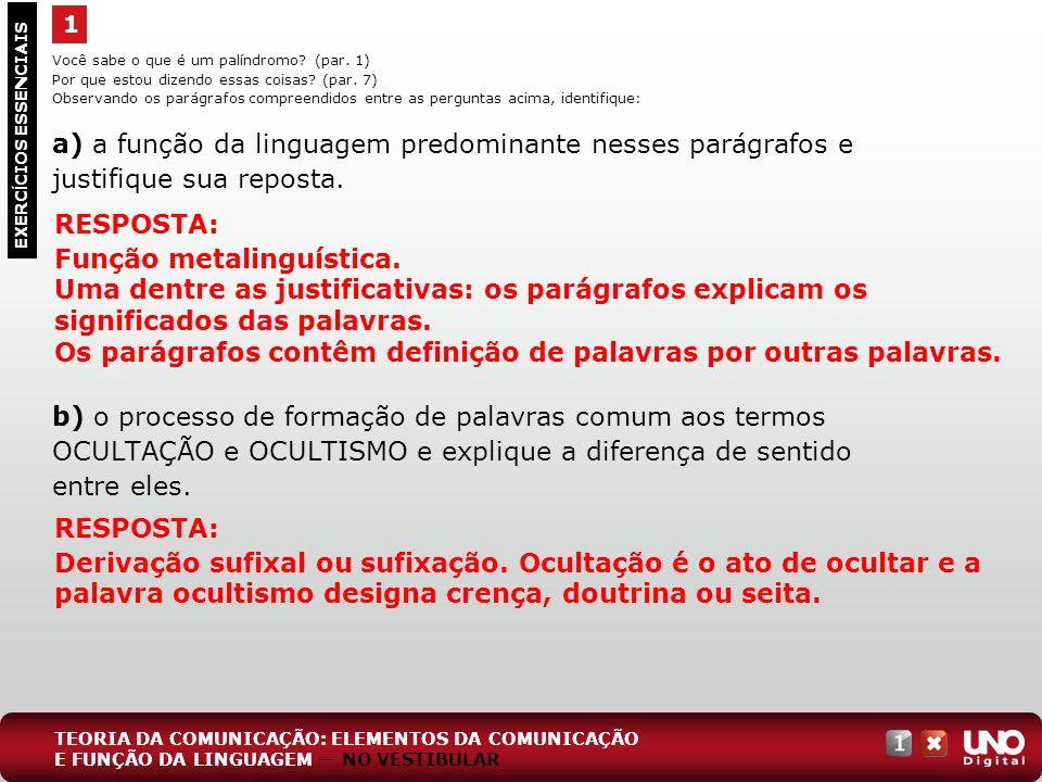 Função metalinguística.