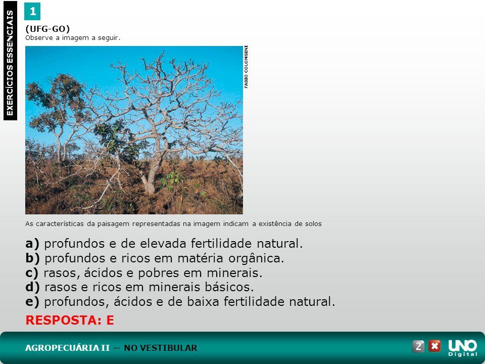 a) profundos e de elevada fertilidade natural.