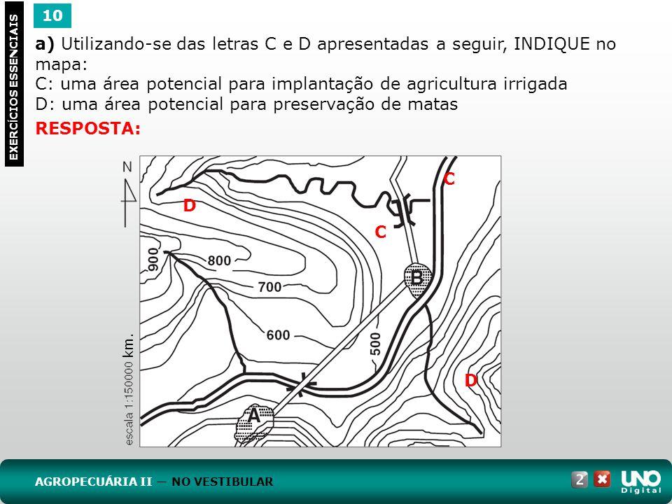 C: uma área potencial para implantação de agricultura irrigada