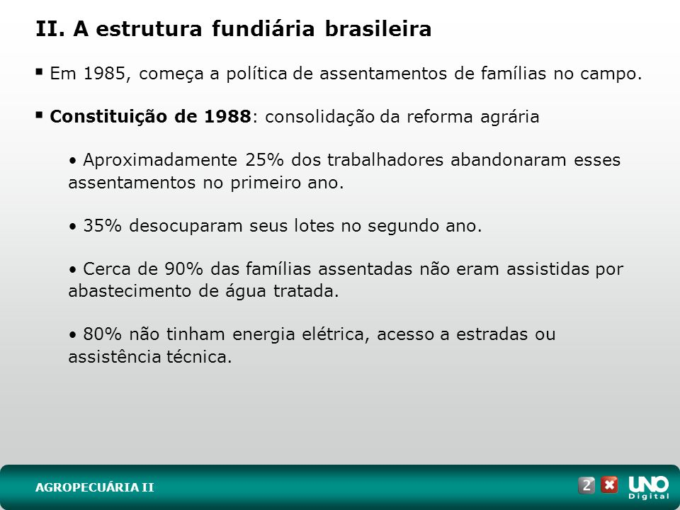 II. A estrutura fundiária brasileira