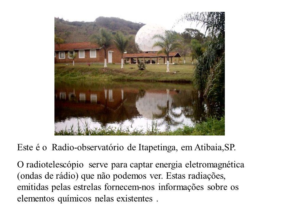 Este é o Radio-observatório de Itapetinga, em Atibaia,SP.