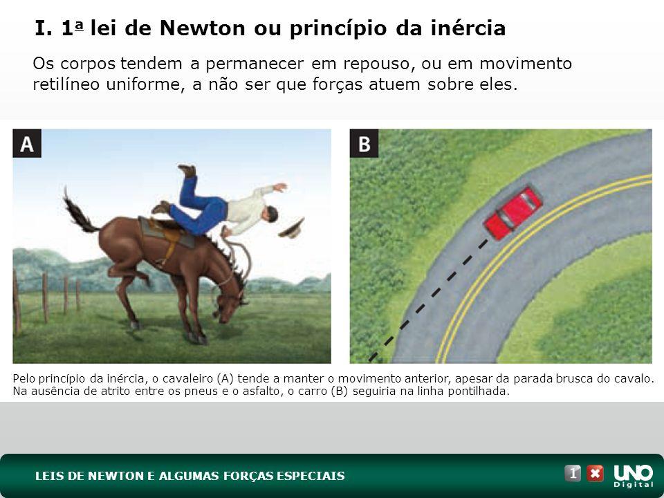 I. 1a lei de Newton ou princípio da inércia