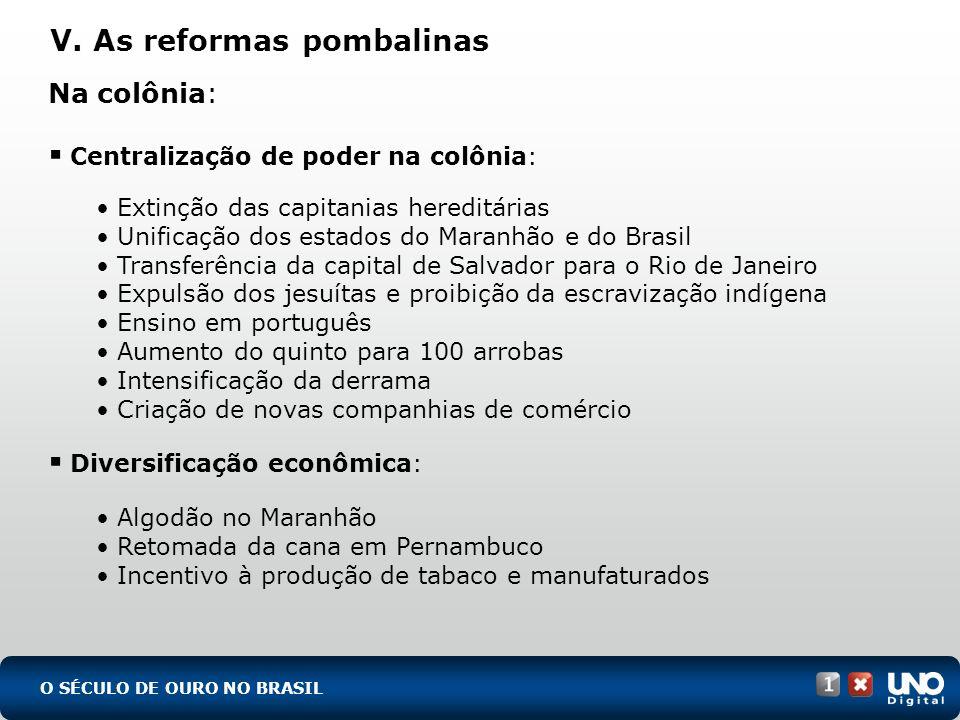 V. As reformas pombalinas