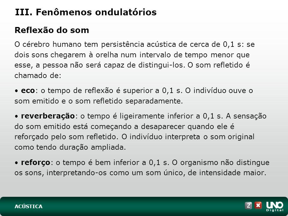 III. Fenômenos ondulatórios