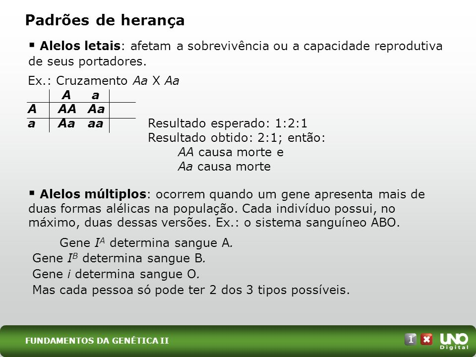 Bio-cad-1-top-5 – 3 Prova Padrões de herança. Alelos letais: afetam a sobrevivência ou a capacidade reprodutiva de seus portadores.
