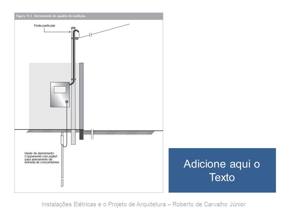 Adicione aqui o Texto Instalações Elétricas e o Projeto de Arquitetura – Roberto de Carvalho Júnior.