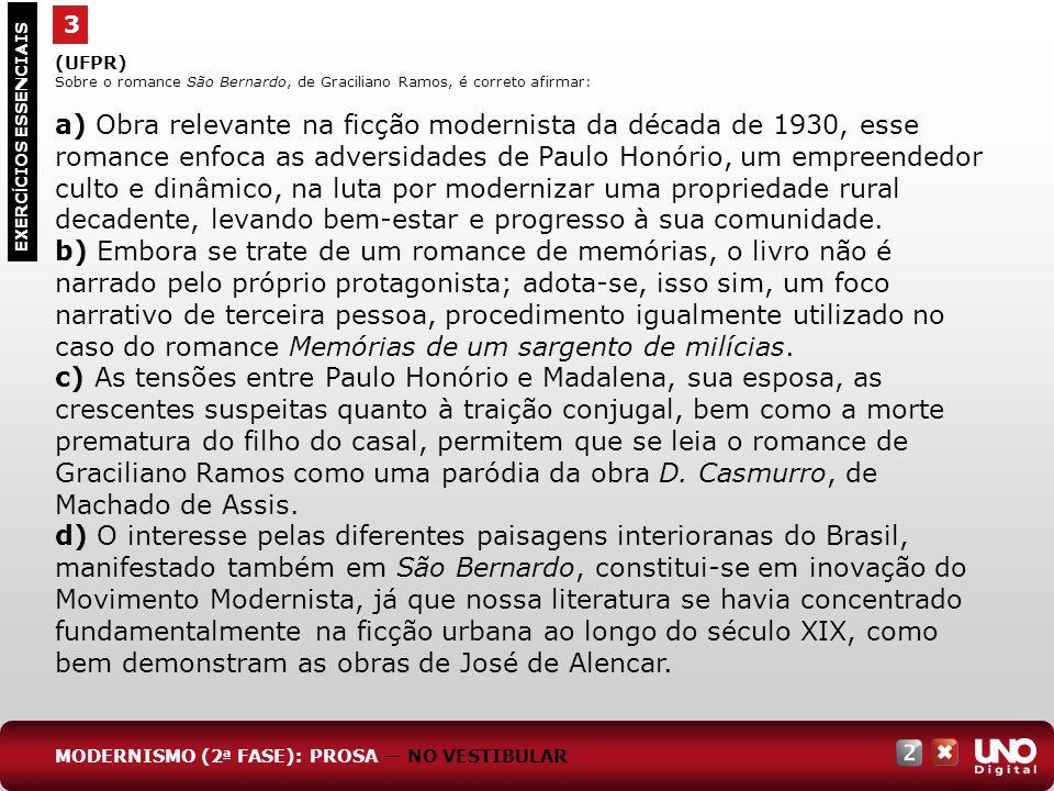 Lit-cad-2-top-4 – 3 prova 3. (UFPR) Sobre o romance São Bernardo, de Graciliano Ramos, é correto afirmar: