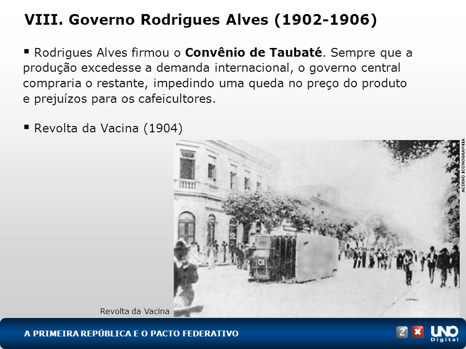 VIII. Governo Rodrigues Alves (1902-1906)
