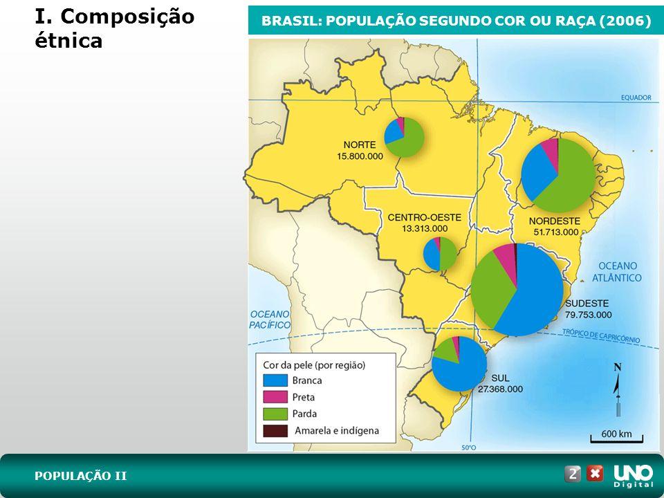 BRASIL: POPULAÇÃO SEGUNDO COR OU RAÇA (2006)