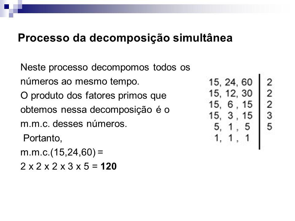 Processo da decomposição simultânea