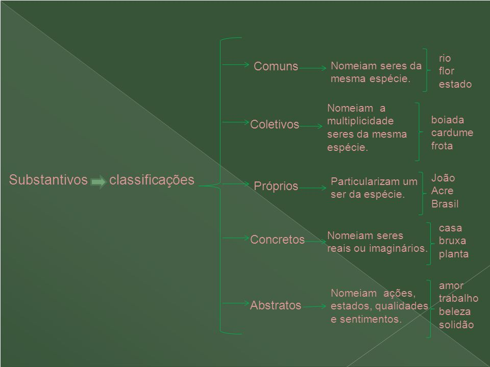 Substantivos classificações