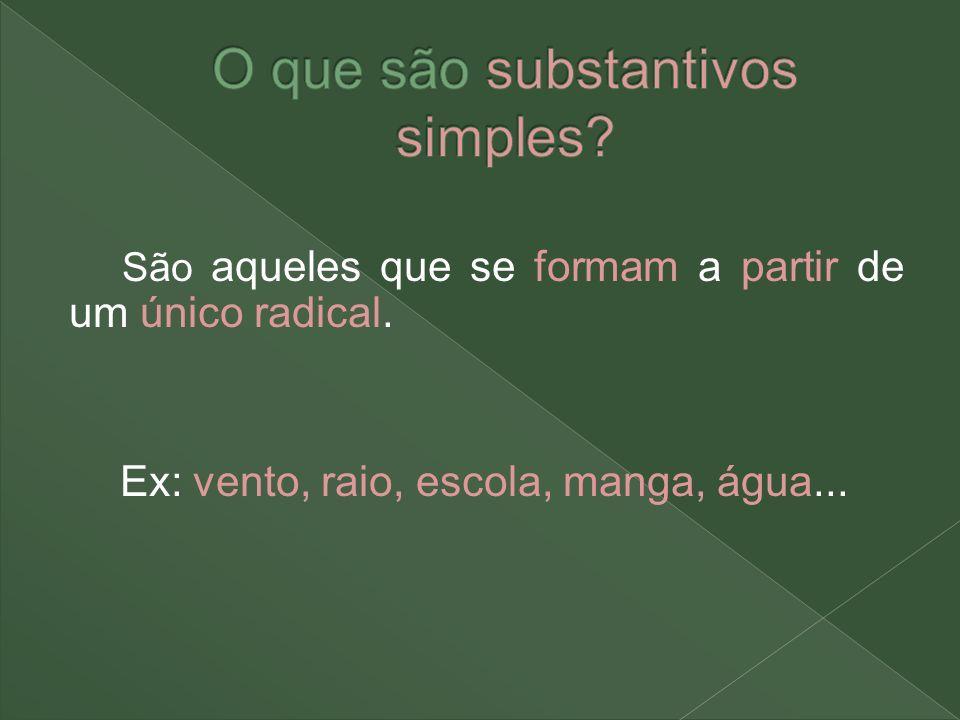 O que são substantivos simples