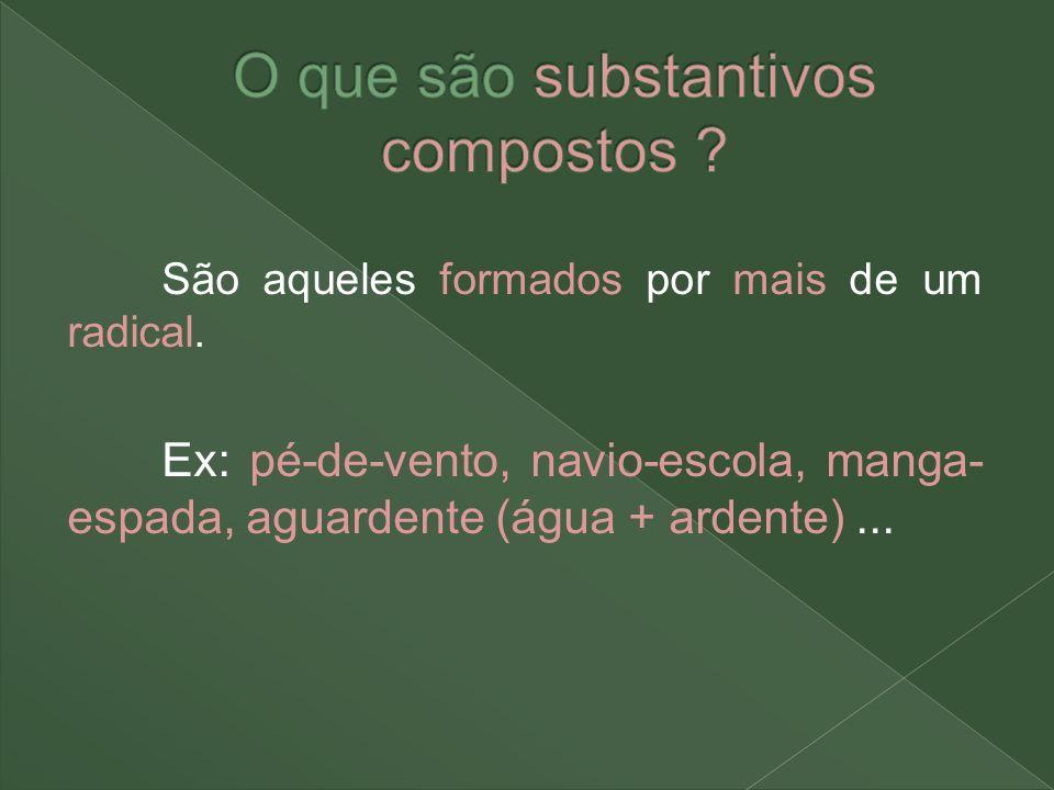 O que são substantivos compostos
