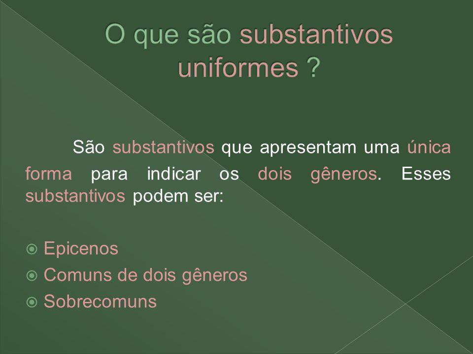 O que são substantivos uniformes