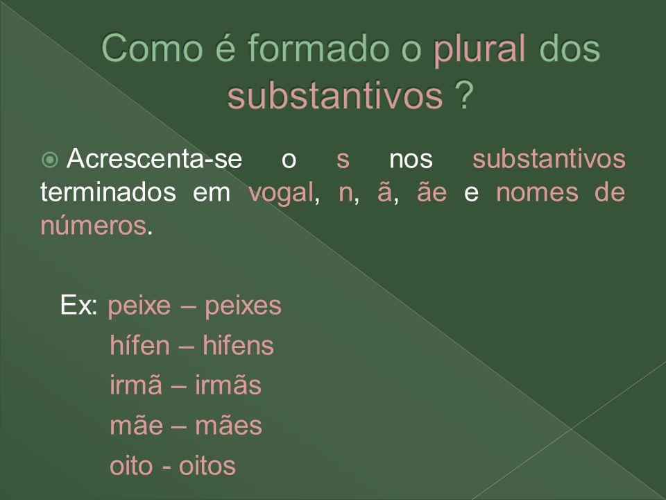 Como é formado o plural dos substantivos