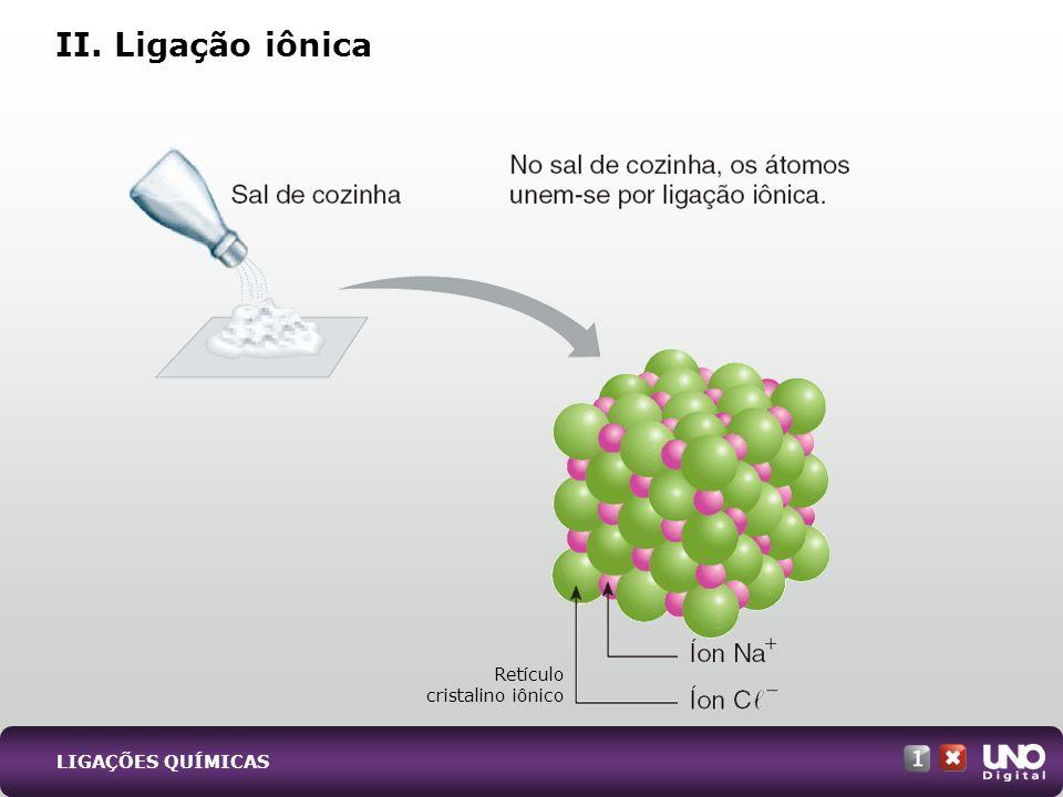 II. Ligação iônica Qui-cad-1-top-2 – 3 prova