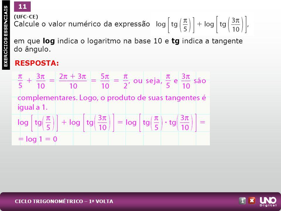 Calcule o valor numérico da expressão: