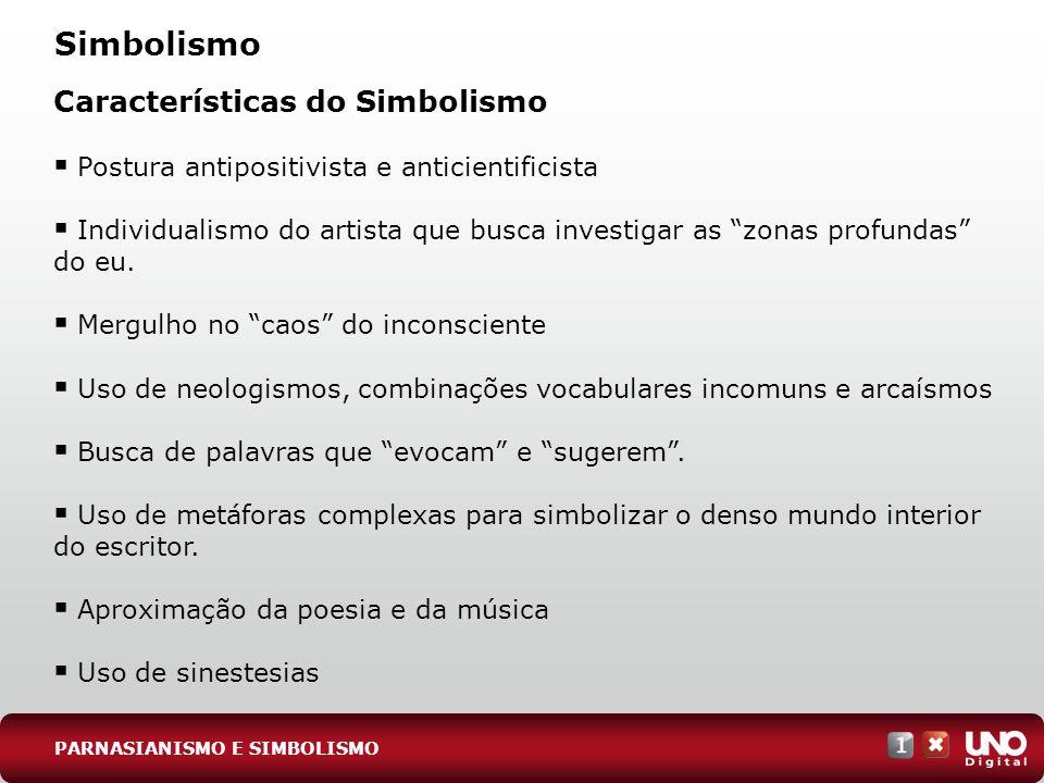 Simbolismo Características do Simbolismo