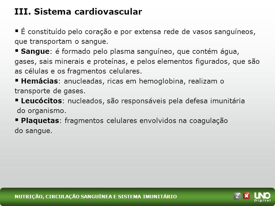 III. Sistema cardiovascular