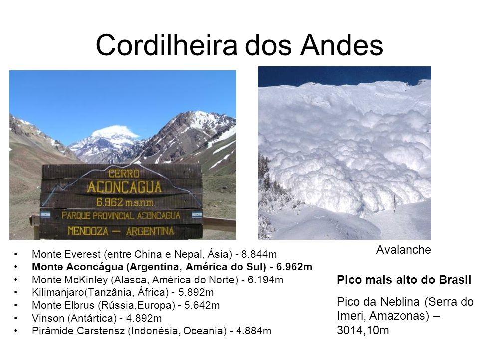 Cordilheira dos Andes Avalanche Pico mais alto do Brasil