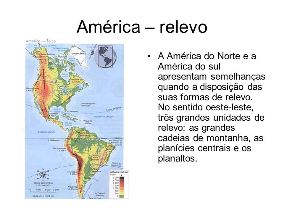 América – relevo